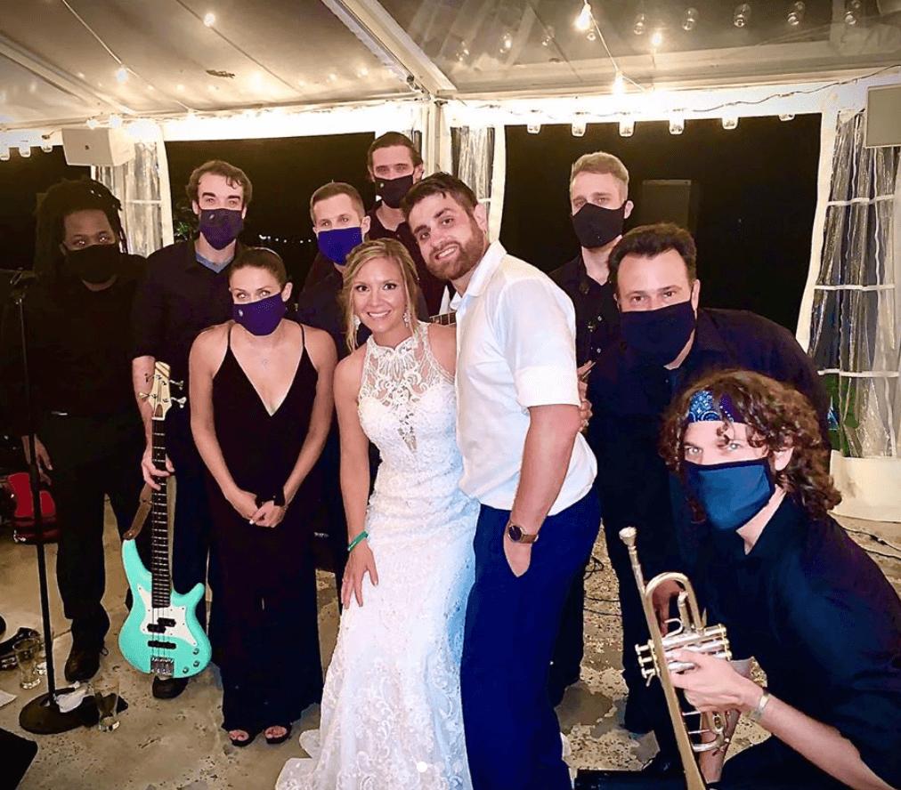 Wedding Band Plays Socially Distanced Wedding   Elegant Music Group