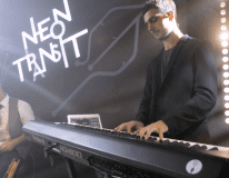 Neon Transit band playing saxophone | Elegant Music Group