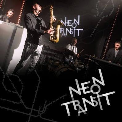 Neon Transit band playing saxophone | Elegant Music Group
